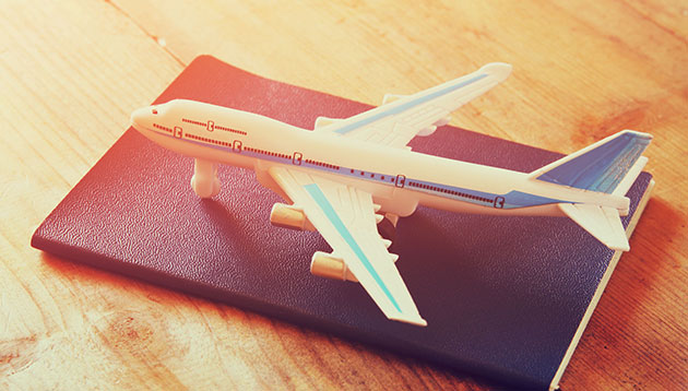 plane on passport travel concept - 123RF