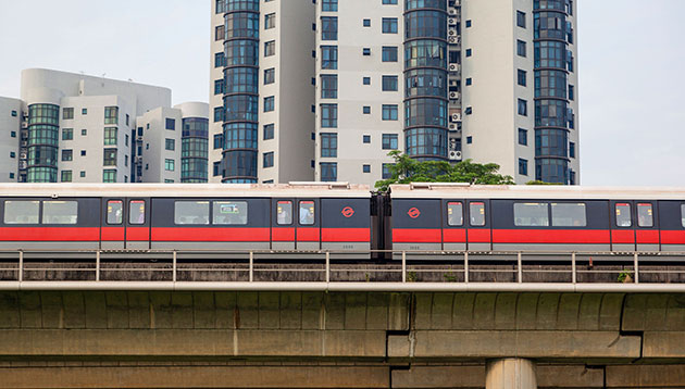 SMRT train in Singapore