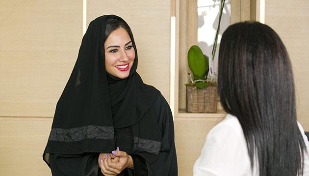 Hijabi at the reception