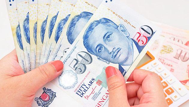 Singapore money - 123RF