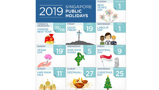 How Many Days Till Christmas 2019.Singapore S List Of 2019 Public Holidays Human Resources