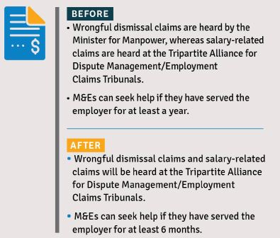 Changes to Singapore's Employment Act set to take effect from 1