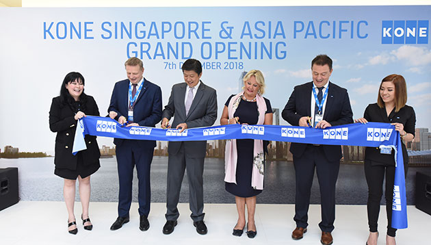 Elevator and escalator company KONE opens new regional HQ in