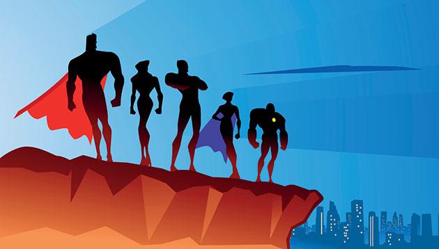 Superheros-against-a-skyline-iStock