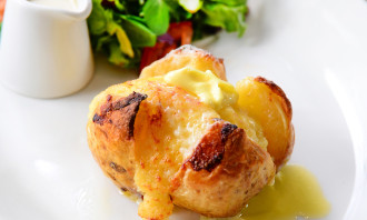 Marks And Spencer Cafe Hong Kong Butter and Cheese Jacket Potatoes