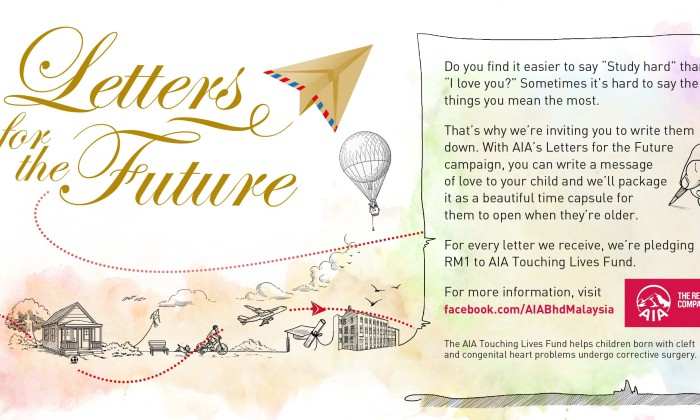 AIA gets parents to write letters for the future | Marketing