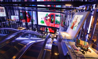 DFS Fall Winter 2014 Hong Kong In Store Electronic Displays Visuals