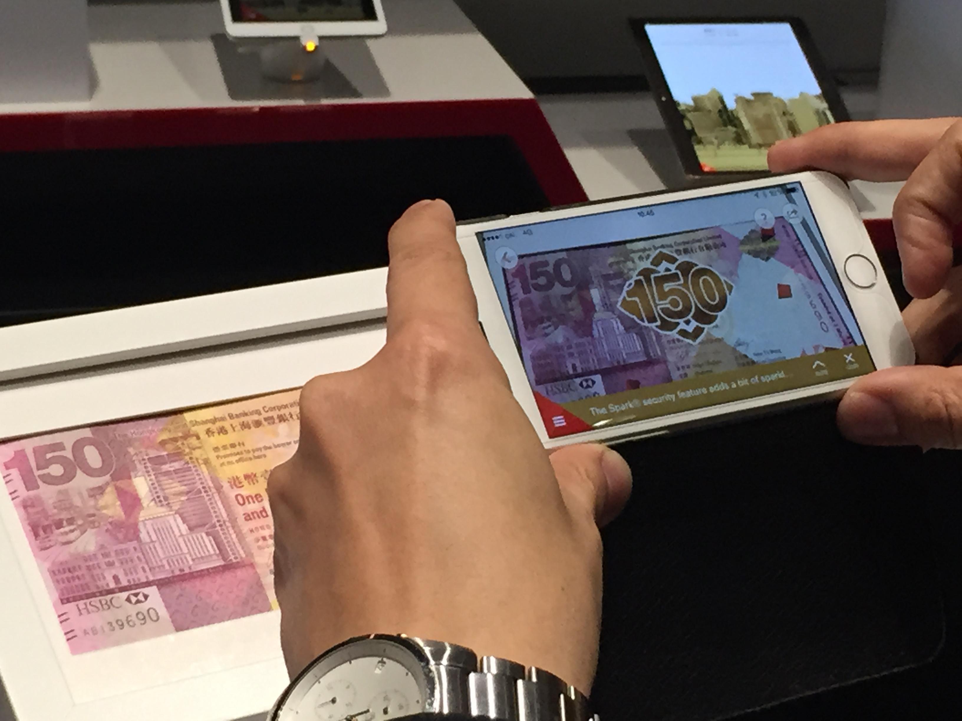 AR tech glams up HSBC HK$150 banknotes | Marketing Interactive