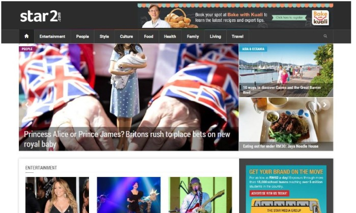 The Star media group launches new lifestyle portal, Star2