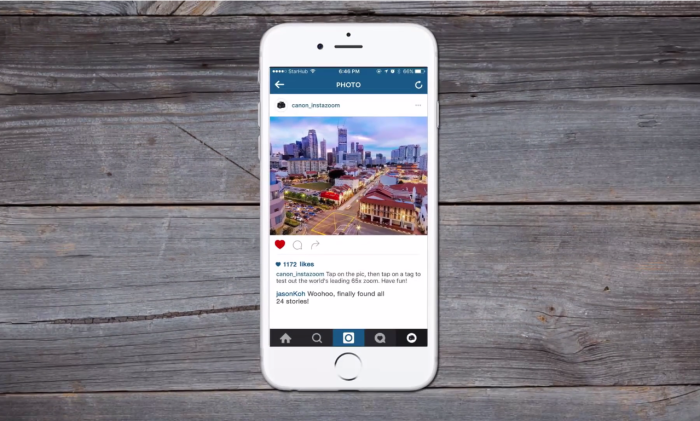 Canon gives Instagram a zoom feature | Marketing Interactive