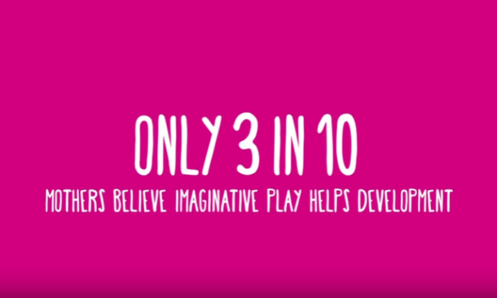 Only 3 in 10 mothers believe imaginative play is important to a child's development