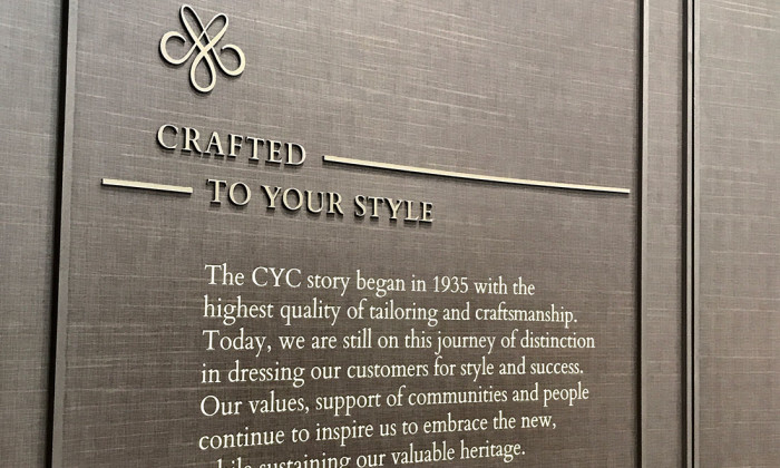 Our CYC Heritage Wall at Capitol Piazza.