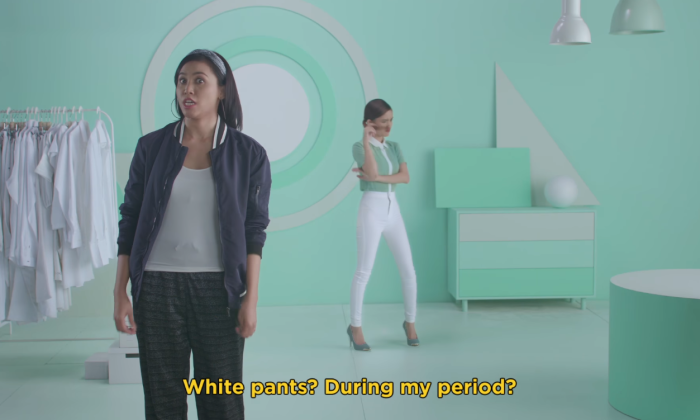 Libresse pokes fun at sanitary napkin commercial stereotypes