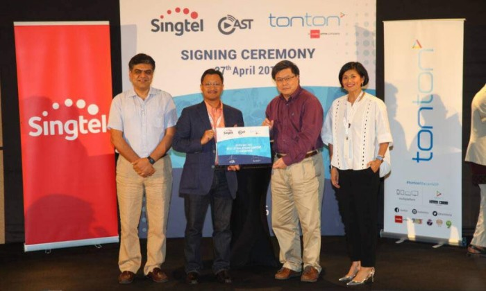 Media Prima's tonton ties up with Singtel's video streaming