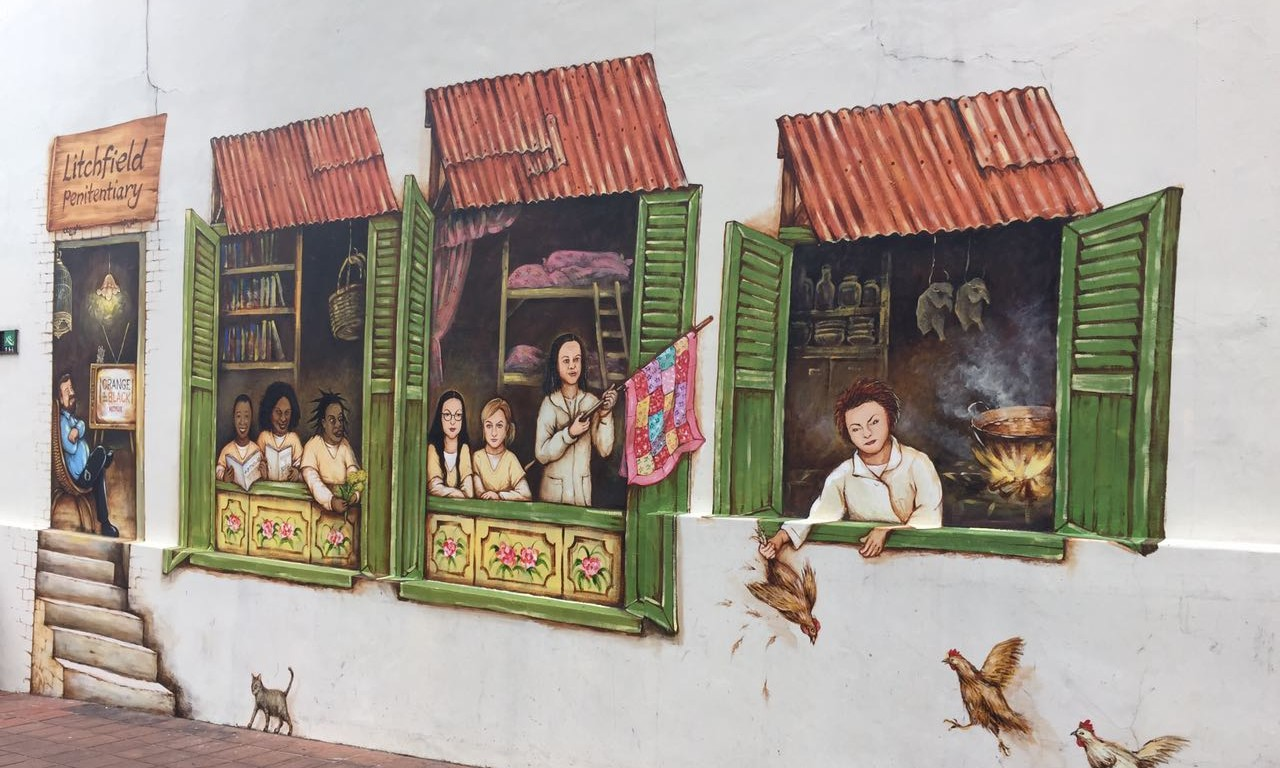 Netflix Commissions Painted Wall Mural For Orange Is The New Black