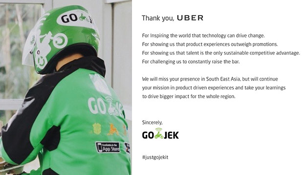 Go-Jek pens tribute to Uber following SEA exit | Marketing Interactive