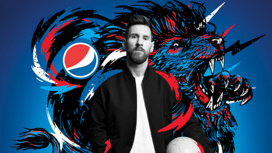 Pepsi partners with Messi and other stars for global