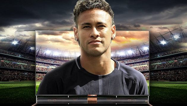 footballer neymar jr kicks off tcl s 2018 sports campaign as global