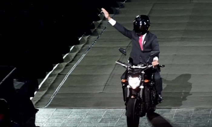 President Jokowi's PR stunt on motorcycle at Asian Games revs up
