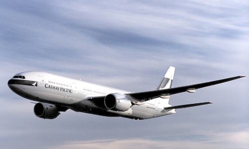 Cathay Pacific donates the world's first Boeing 777 airplane