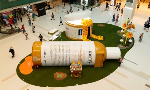 Kiehl's brings a giant flower AR gaming experience to its HK pop up