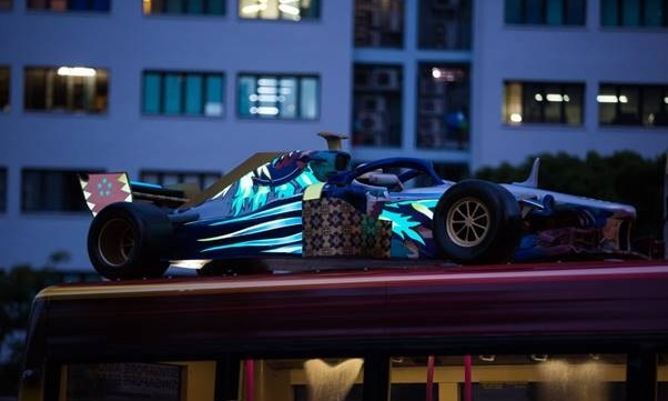 Singapore Grand Prix and Moove light up cars on buses