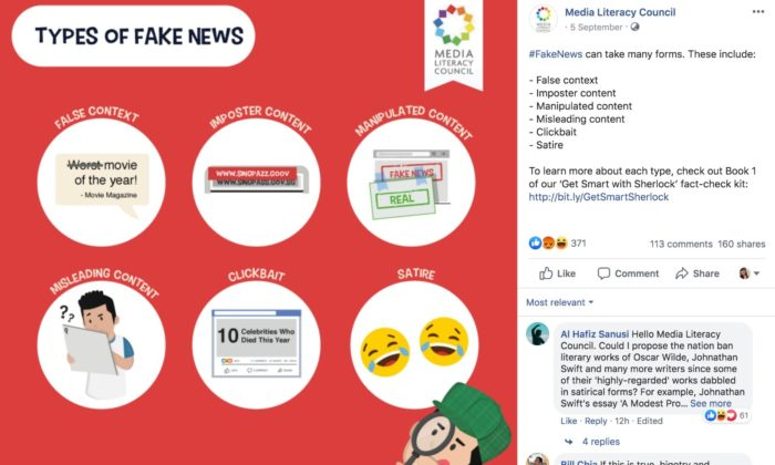 Media Literacy Council Apologises For Fb Post Classifying Satire