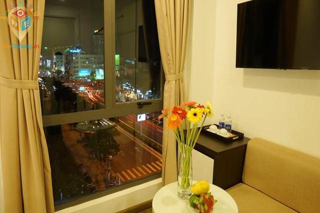 Phòng Studio Double nhìn ra thành phố