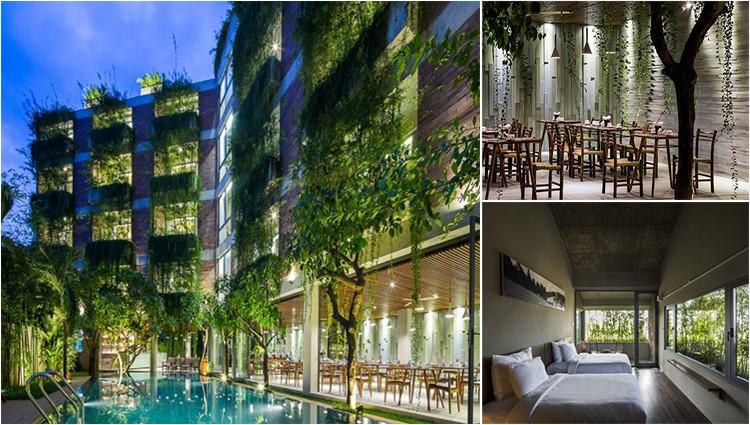 'Lạc trôi' đến Atlas Hội An, khách sạn như khu vườn cổ tích màu xanh giữa lòng phố cổ