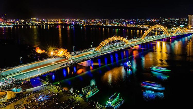 Cầu rồng Đà Nẵng sẽ phun lửa liên tục 4 đêm dịp Tết