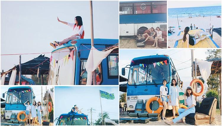 Du lịch Huế check-in Bus Café – quán cà phê có view biển tuyệt đẹp
