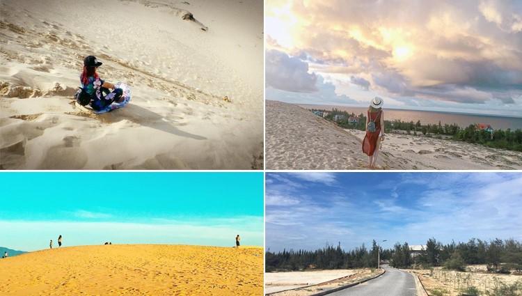 Trải nghiệm trượt ván trên 'sa mạc' cát khi đến du lịch Quảng Bình