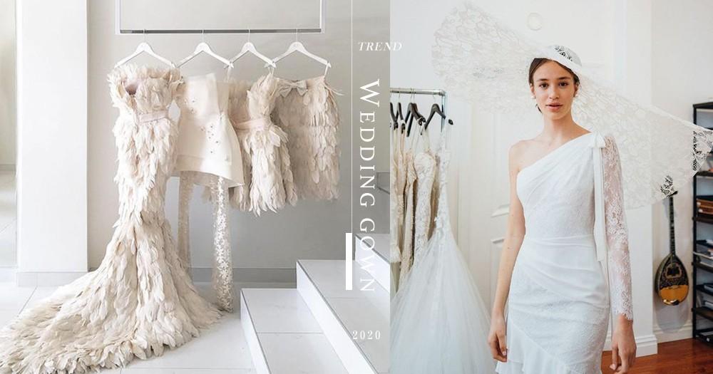 【準新娘必看】2020婚紗5大潮流!除了大熱的羽毛元素,還有以下這幾類