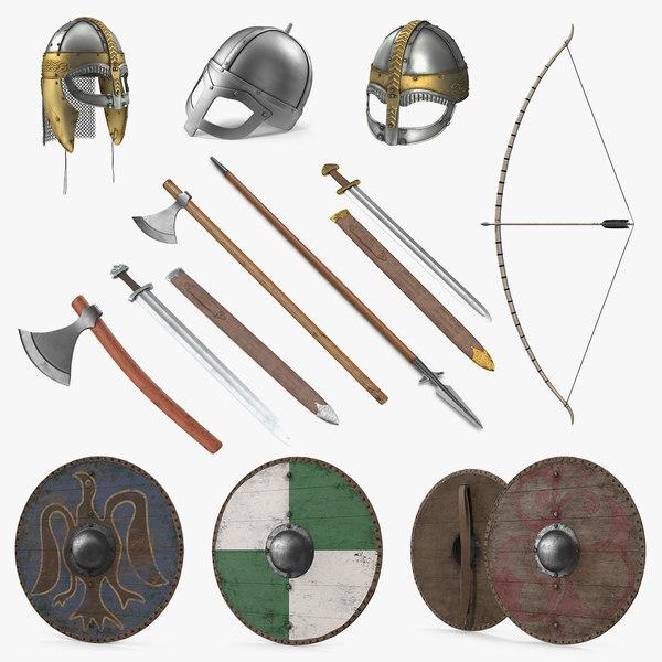 Trang bị vũ khí của Vikings.