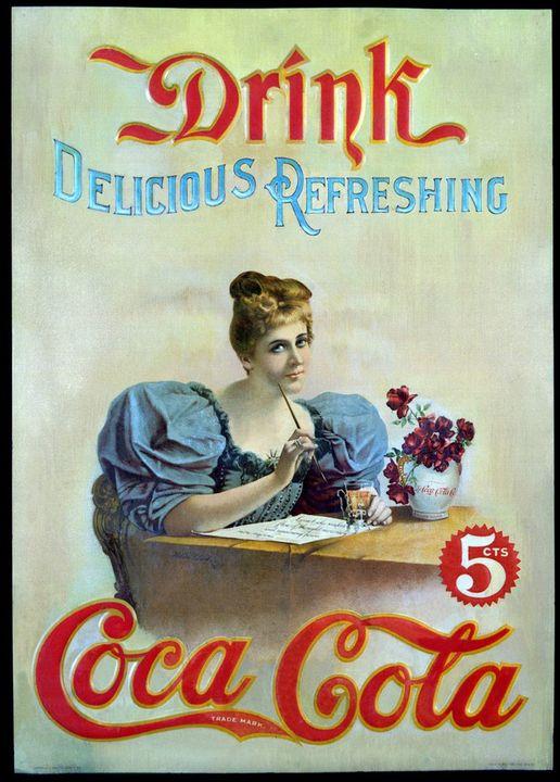 Hình ảnh quảng cáo cho Coca Cola những ngày đầu tiên