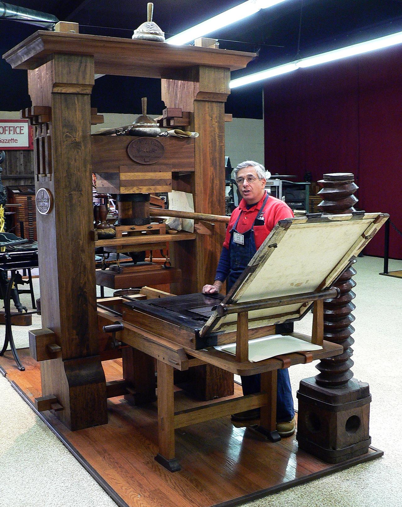 Phục dựng mô hình máy in của Gutenberg (nguồn: Pinterest)