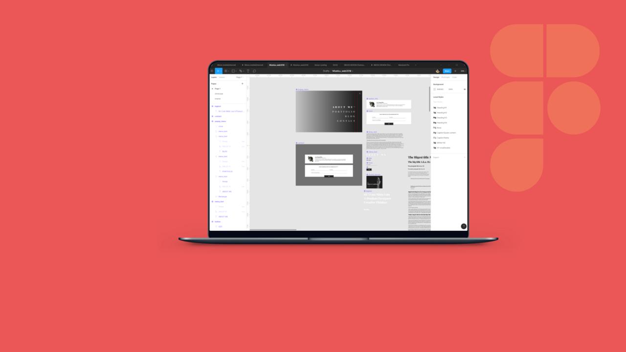 Mình dùng Figma để thiết kế web cá nhân của mình ở nhanluu.com