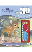 Disney Bambi 3d Storybook with 3d Glasses