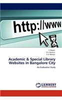 Academic & Special Library Websites in Bangalore City