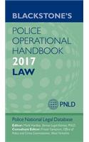 Blackstone's Police Operational Handbook 2017, 2017 Ed.