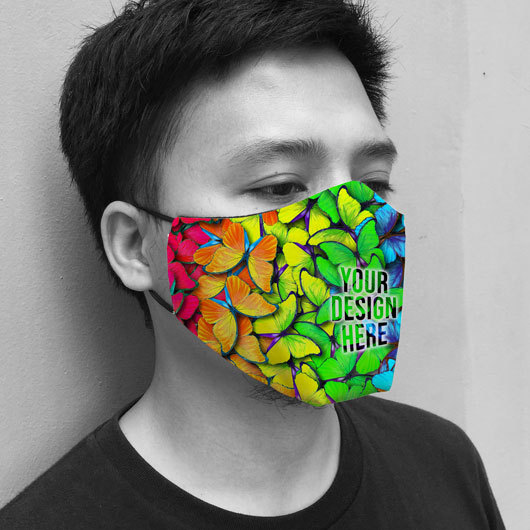 Print Masker, Masker Kain Tali Custom Design Proses Cepat