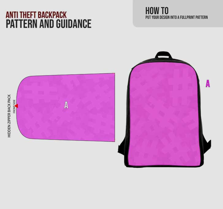 fullprint  specification mobile anti theft backpack 3