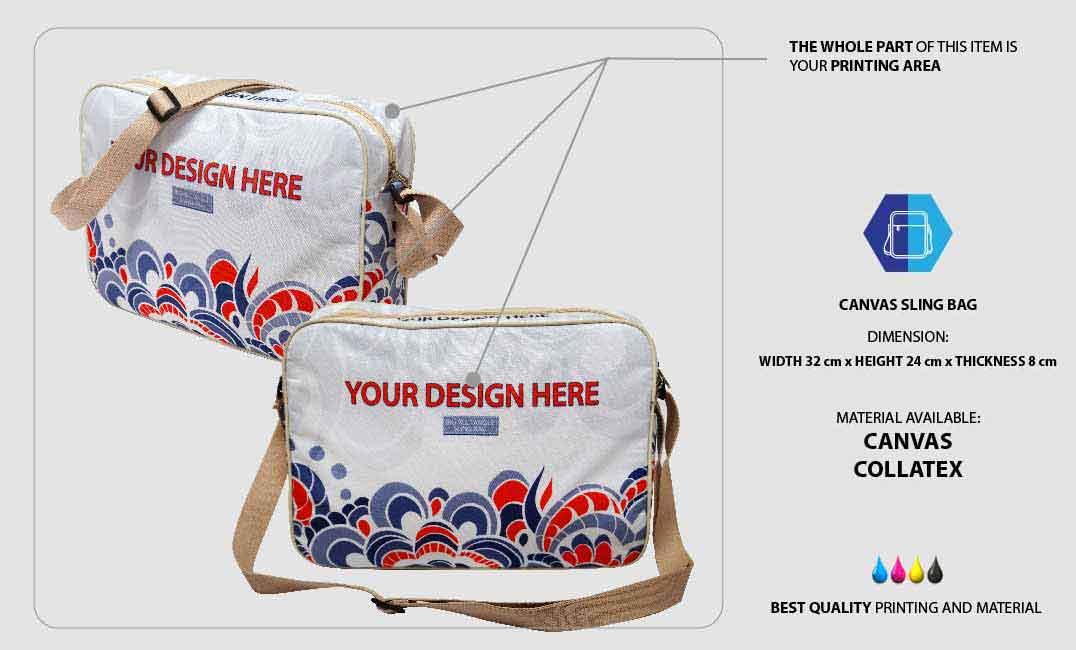 Canvas Sling Bag 1