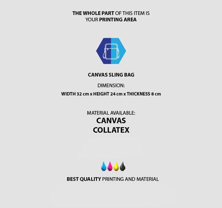 fullprint  Canvas Sling Bag 3