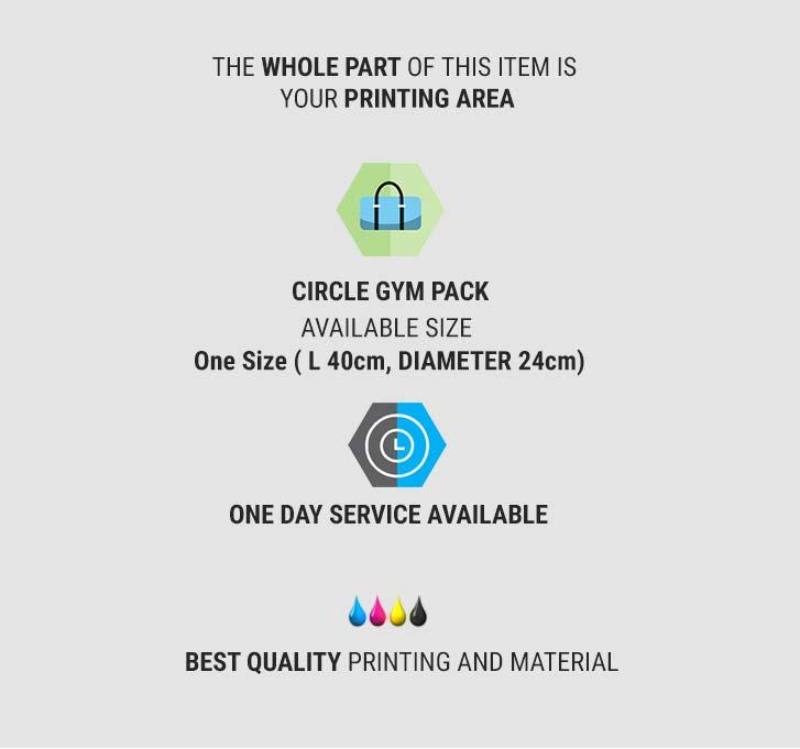 fullprint  specification mobile circle gym bag 2