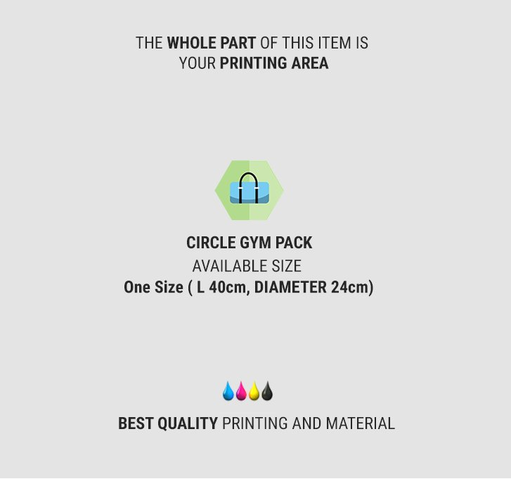 fullprint  specification mobile circle gym bag 2