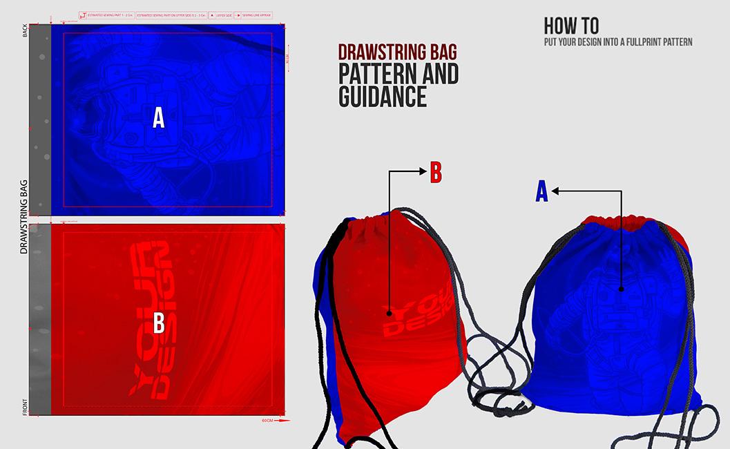 drawstring bag turtorial