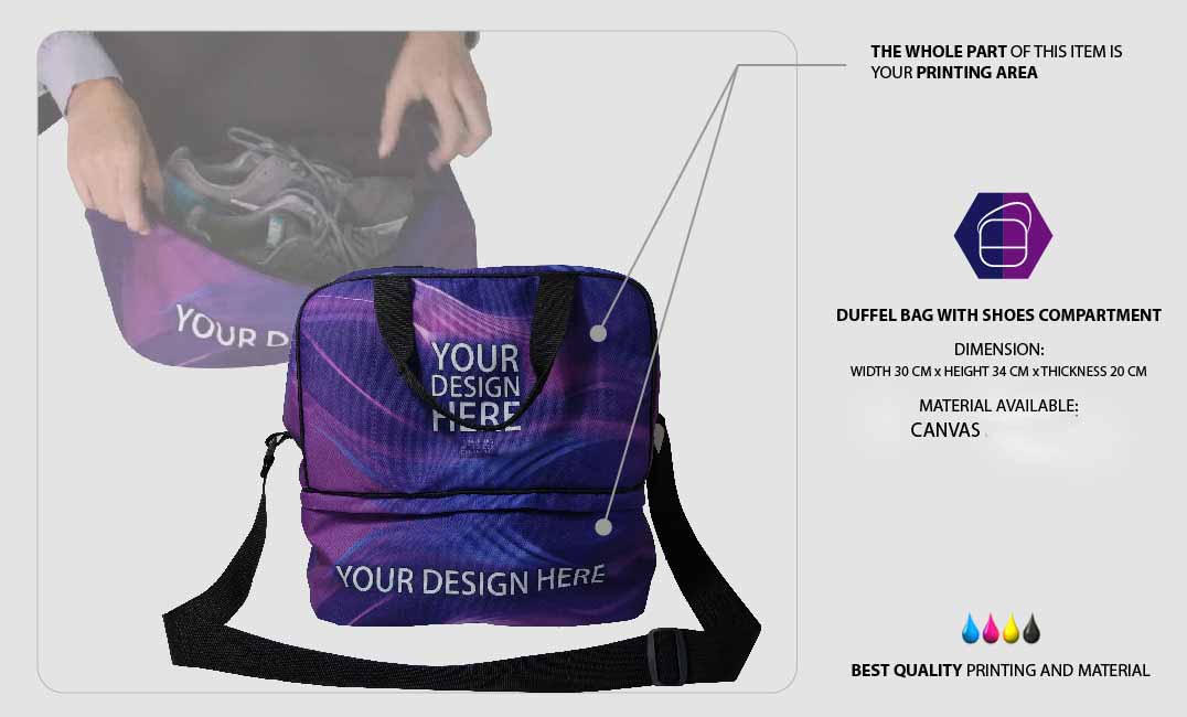 Duffle Bag with Shoe Compartment 1