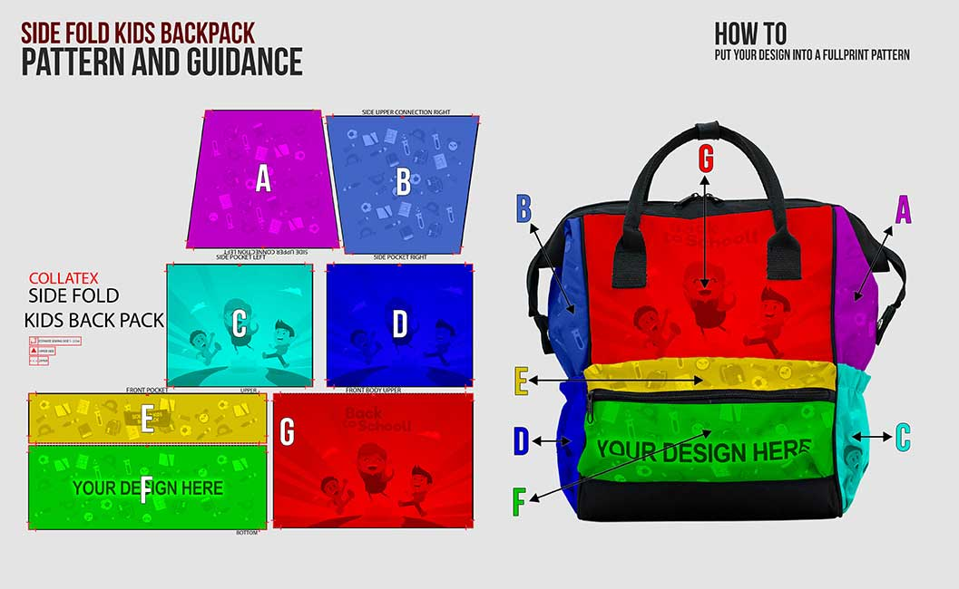KIDS SIDEFOLD BACKPACK. turtorial