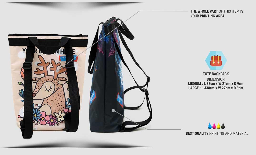 tote backpack 1